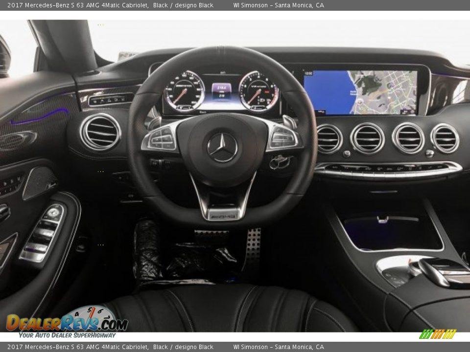2017 Mercedes-Benz S 63 AMG 4Matic Cabriolet Black / designo Black Photo #4