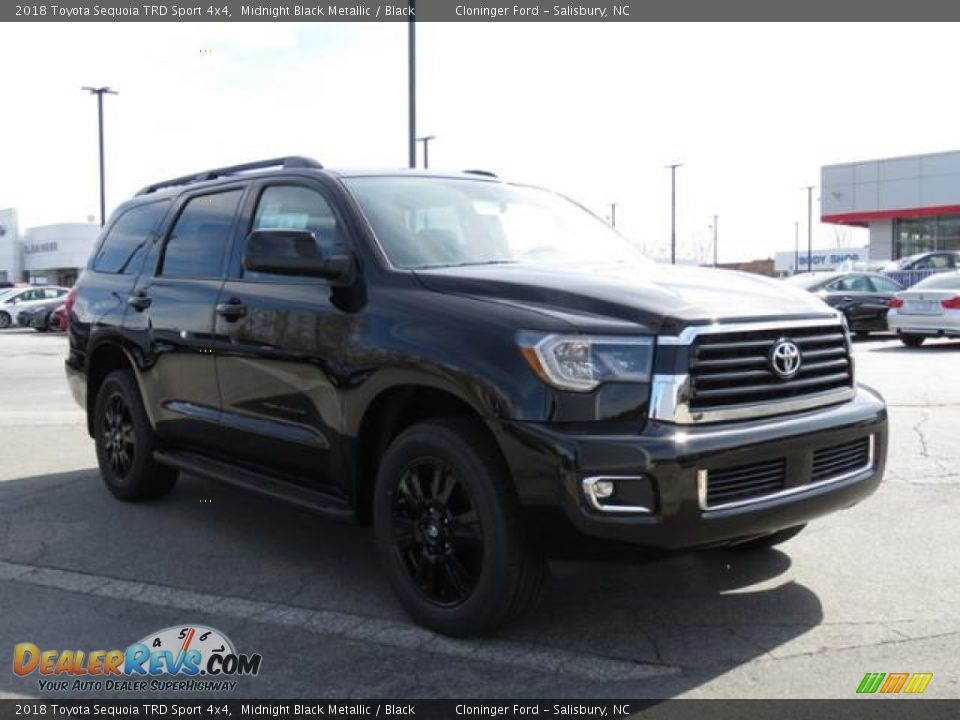 2018 Toyota Sequoia TRD Sport 4x4 Midnight Black Metallic / Black Photo #1