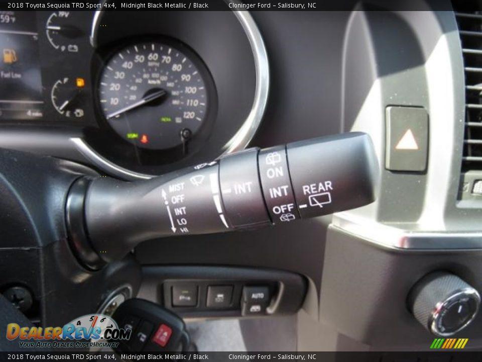 2018 Toyota Sequoia TRD Sport 4x4 Midnight Black Metallic / Black Photo #17