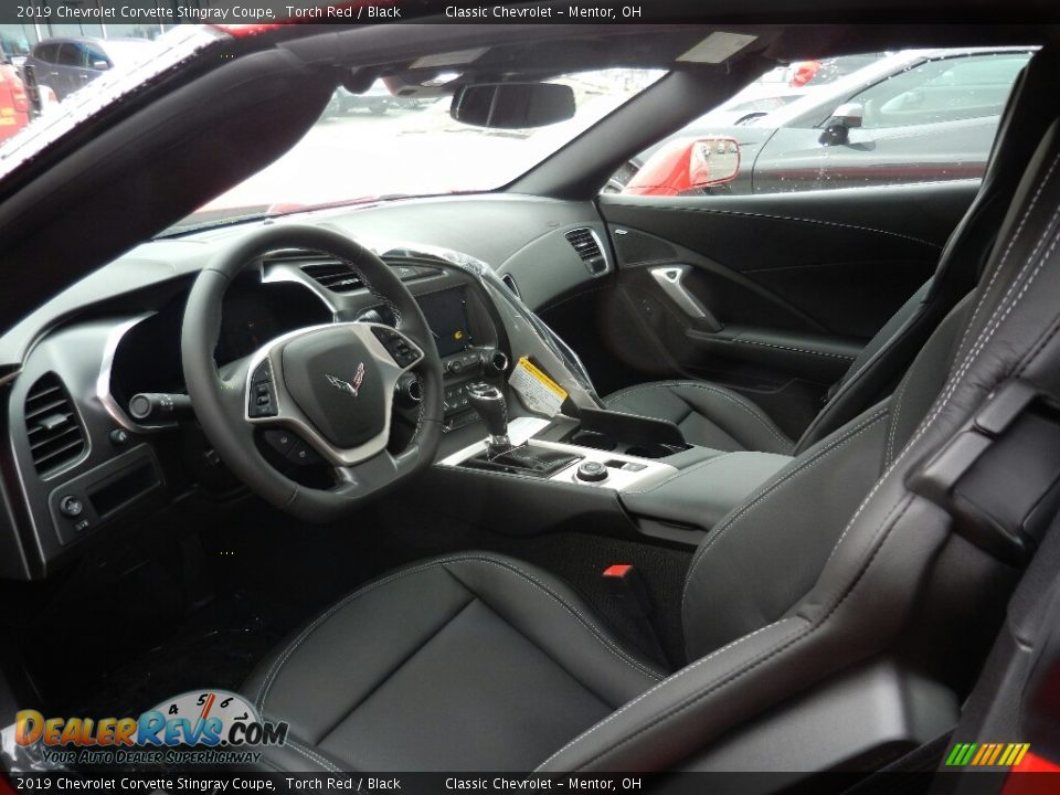 Black Interior - 2019 Chevrolet Corvette Stingray Coupe Photo #6