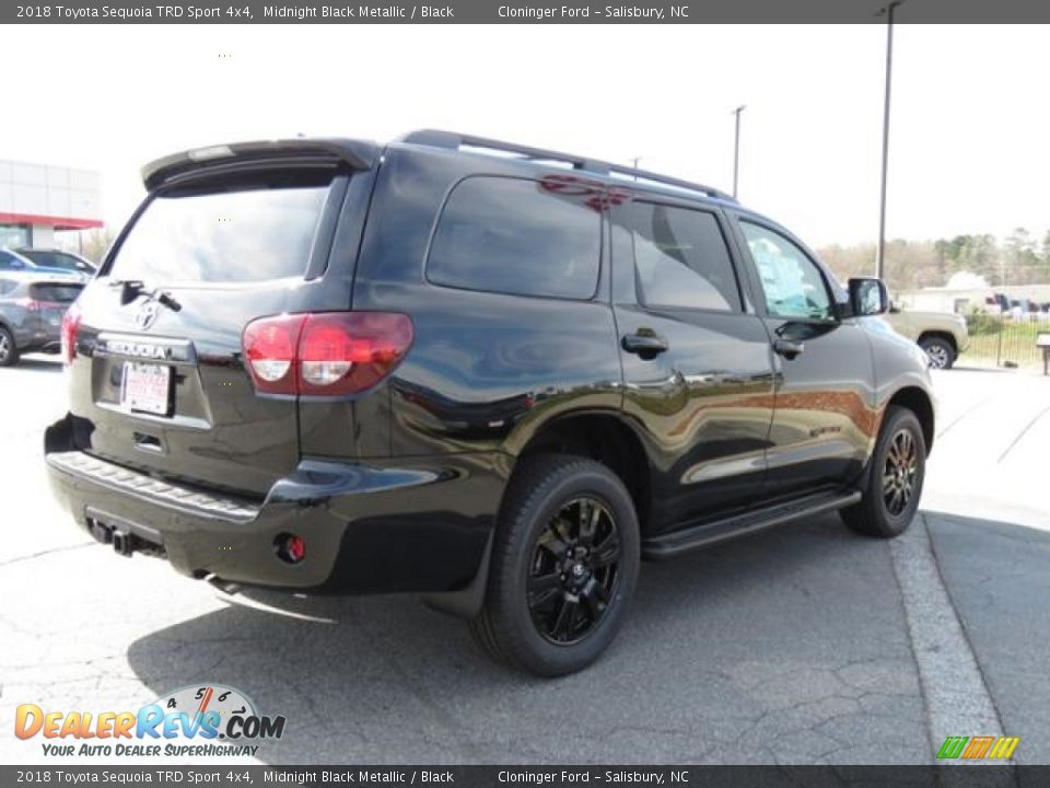 2018 Toyota Sequoia TRD Sport 4x4 Midnight Black Metallic / Black Photo #26
