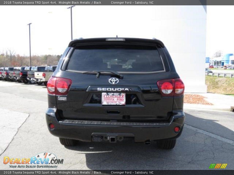 2018 Toyota Sequoia TRD Sport 4x4 Midnight Black Metallic / Black Photo #27