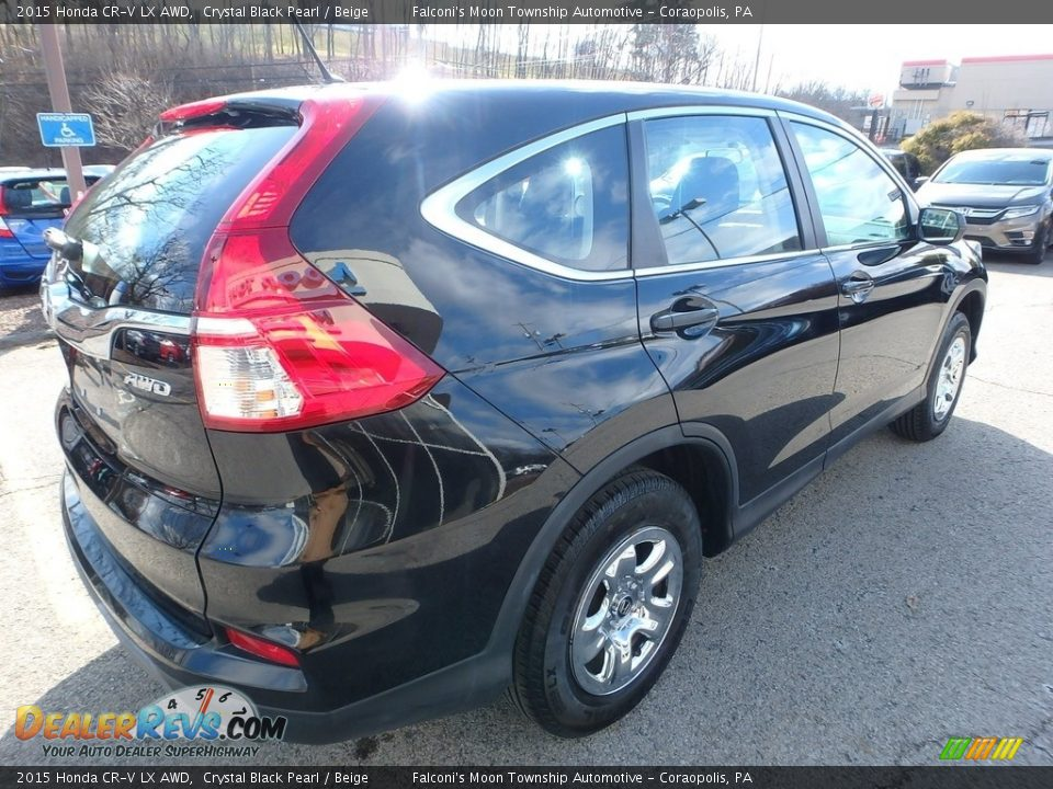 2015 Honda CR-V LX AWD Crystal Black Pearl / Beige Photo #5