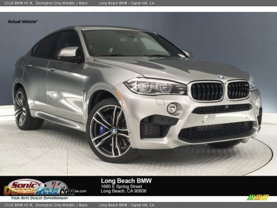 2018 BMW X6 M Donington Grey Metallic / Black Photo #1