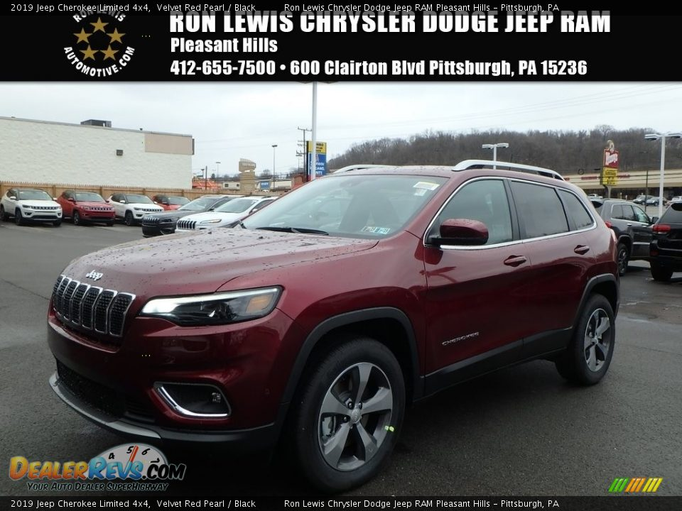 2019 Jeep Cherokee Limited 4x4 Velvet Red Pearl / Black Photo #1
