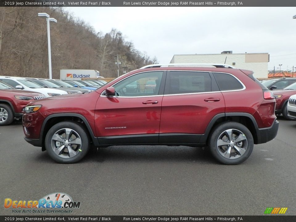 2019 Jeep Cherokee Limited 4x4 Velvet Red Pearl / Black Photo #2