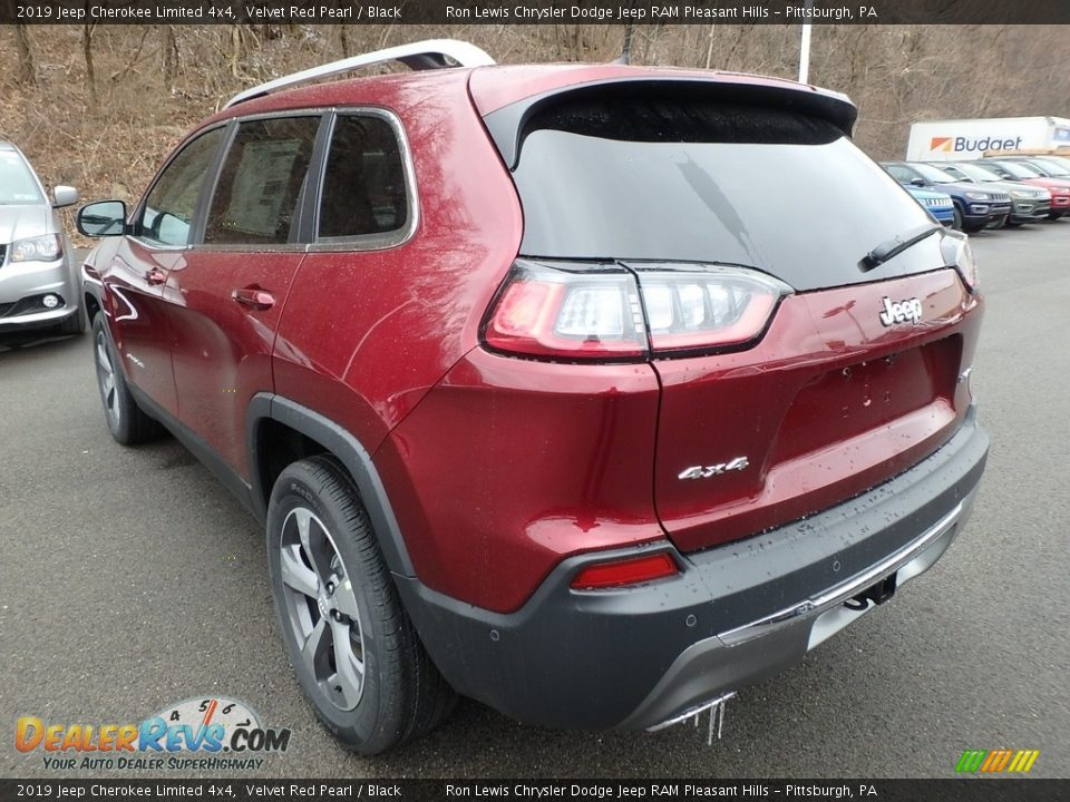 2019 Jeep Cherokee Limited 4x4 Velvet Red Pearl / Black Photo #3