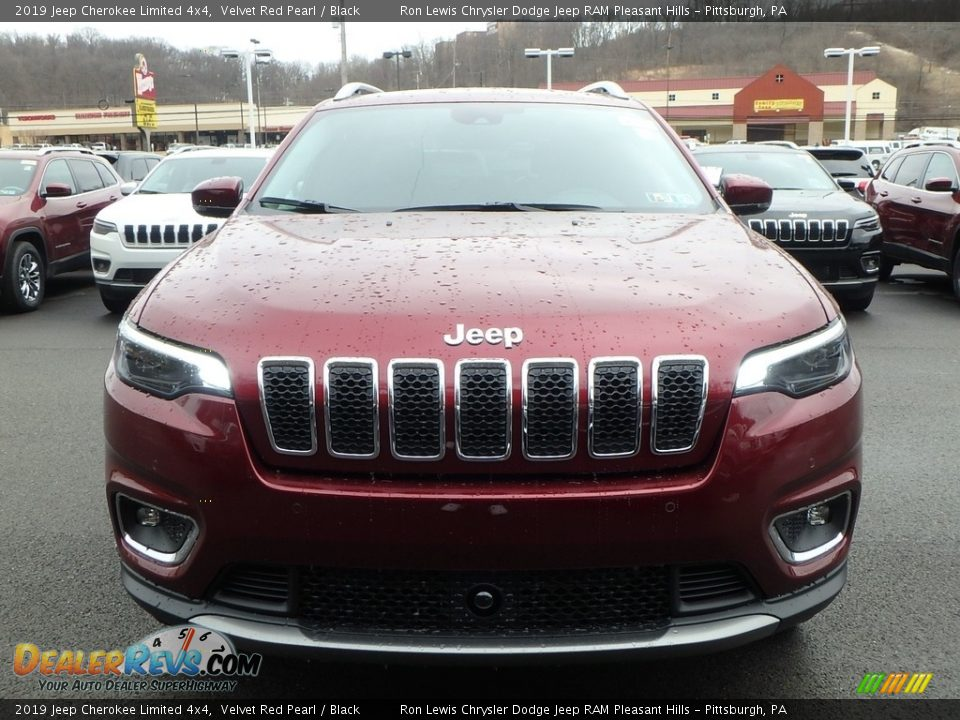 2019 Jeep Cherokee Limited 4x4 Velvet Red Pearl / Black Photo #8