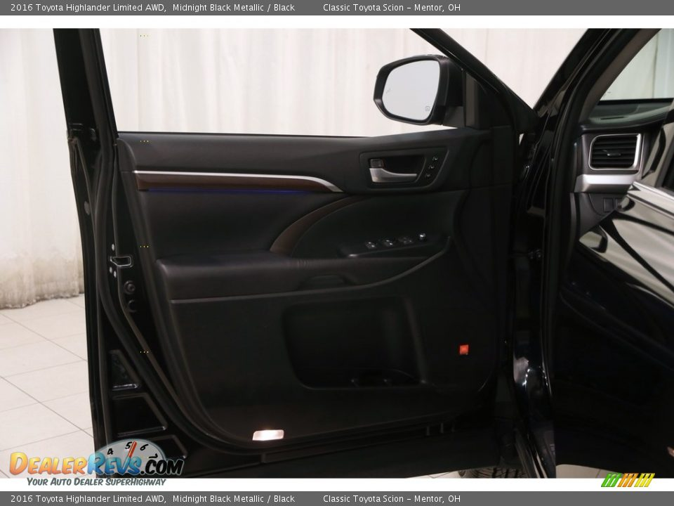 2016 Toyota Highlander Limited AWD Midnight Black Metallic / Black Photo #4