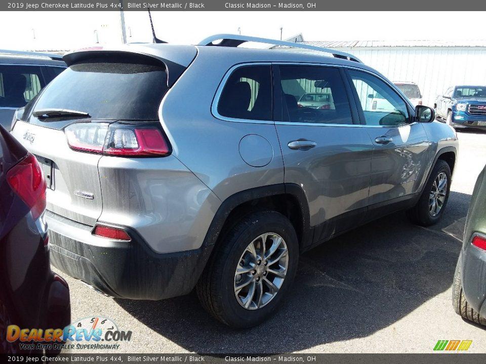 2019 Jeep Cherokee Latitude Plus 4x4 Billet Silver Metallic / Black Photo #3