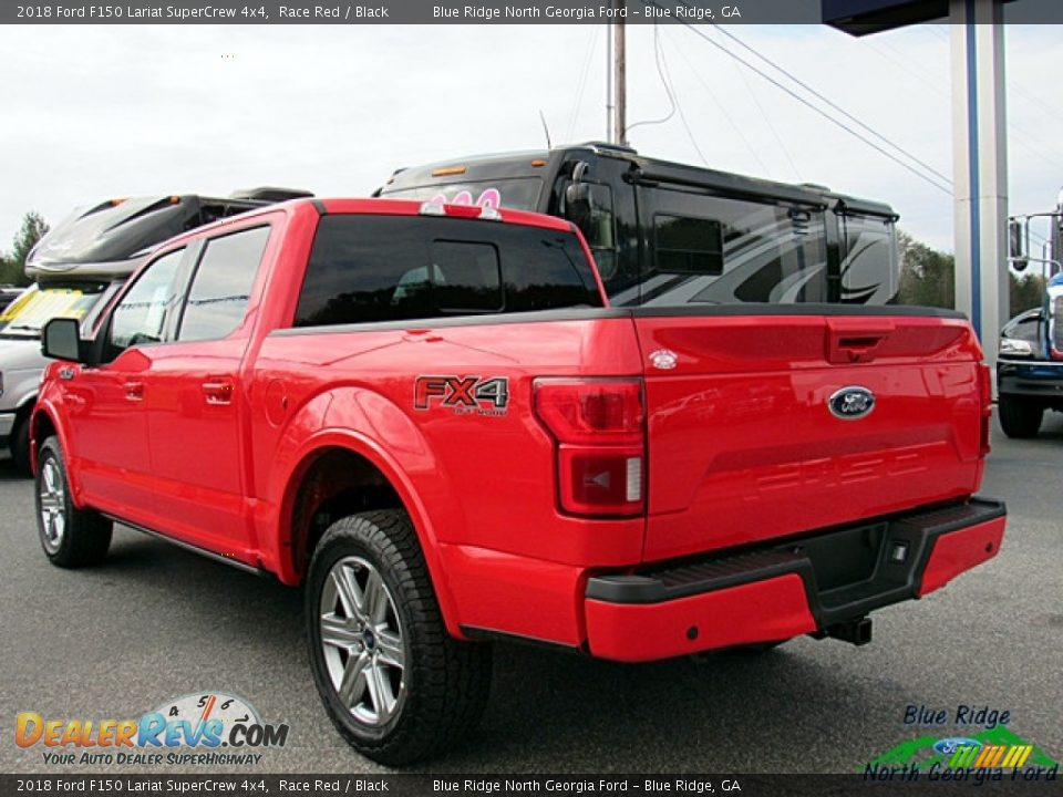 2018 Ford F150 Lariat SuperCrew 4x4 Race Red / Black Photo #3