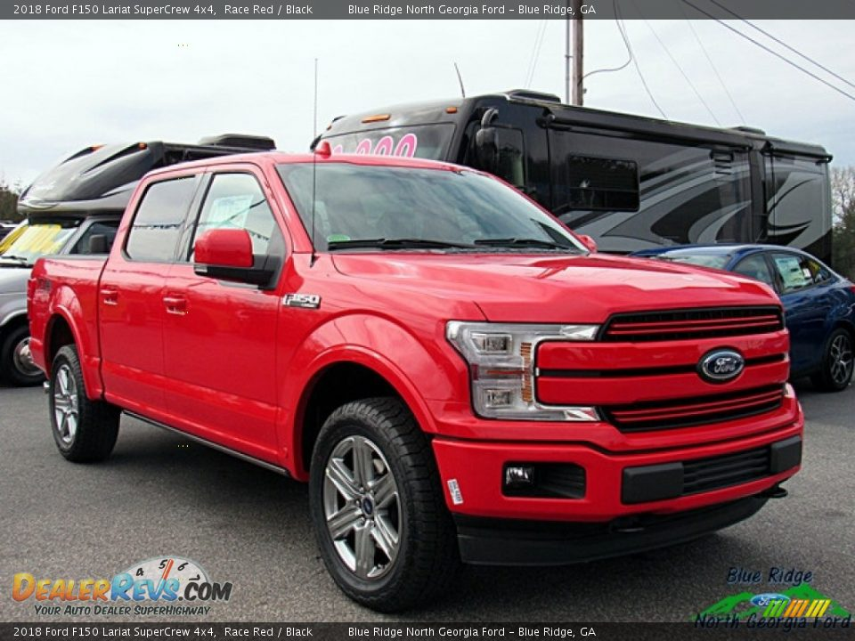 2018 Ford F150 Lariat SuperCrew 4x4 Race Red / Black Photo #7