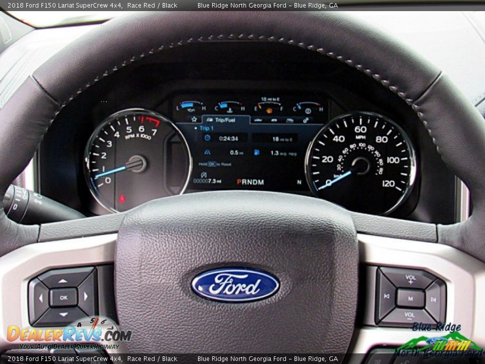 2018 Ford F150 Lariat SuperCrew 4x4 Race Red / Black Photo #15