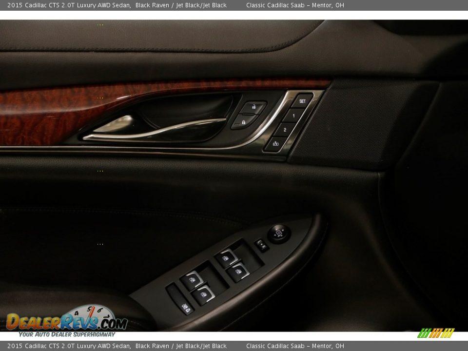 2015 Cadillac CTS 2.0T Luxury AWD Sedan Black Raven / Jet Black/Jet Black Photo #5