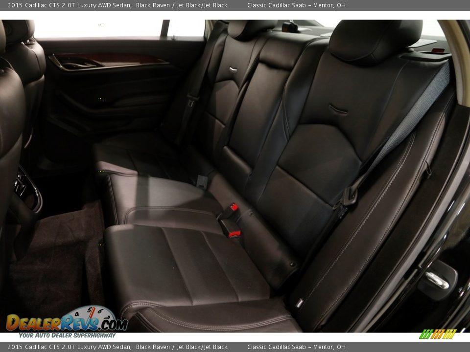2015 Cadillac CTS 2.0T Luxury AWD Sedan Black Raven / Jet Black/Jet Black Photo #19