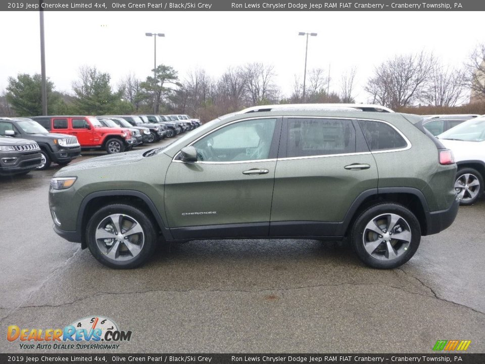 2019 Jeep Cherokee Limited 4x4 Olive Green Pearl / Black/Ski Grey Photo #2