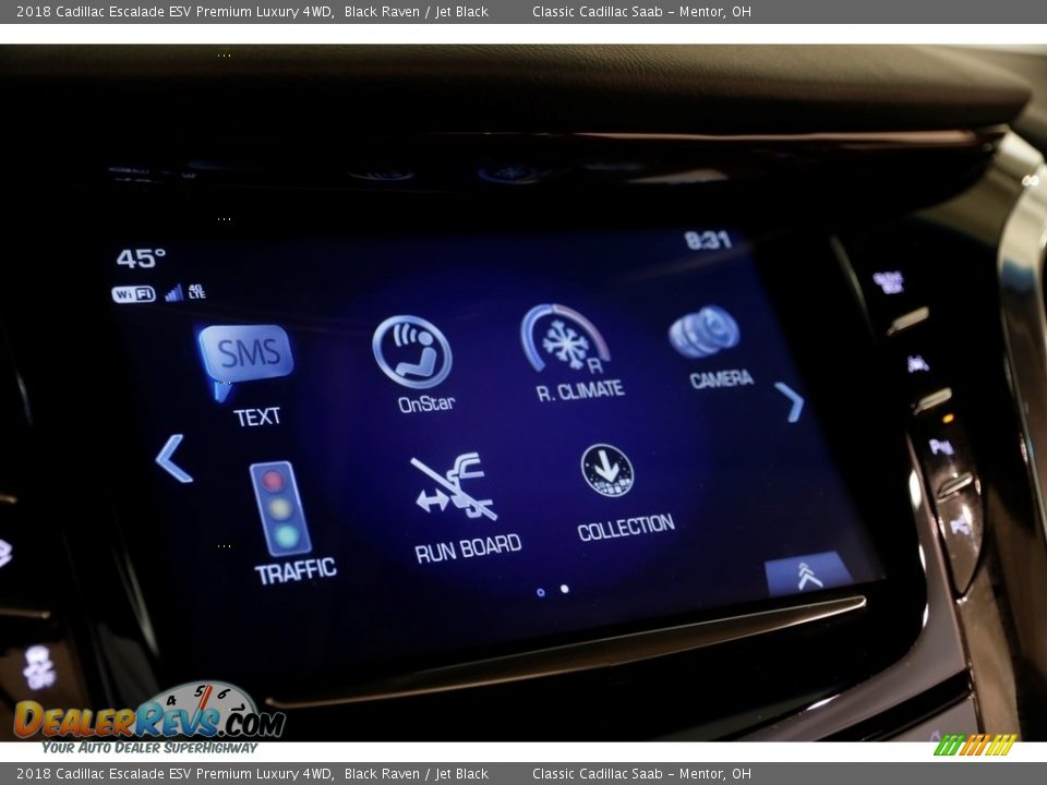 2018 Cadillac Escalade ESV Premium Luxury 4WD Black Raven / Jet Black Photo #11