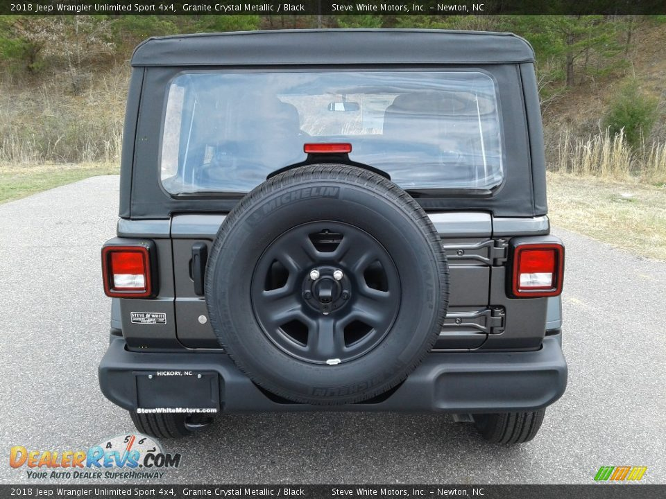2018 Jeep Wrangler Unlimited Sport 4x4 Granite Crystal Metallic / Black Photo #7