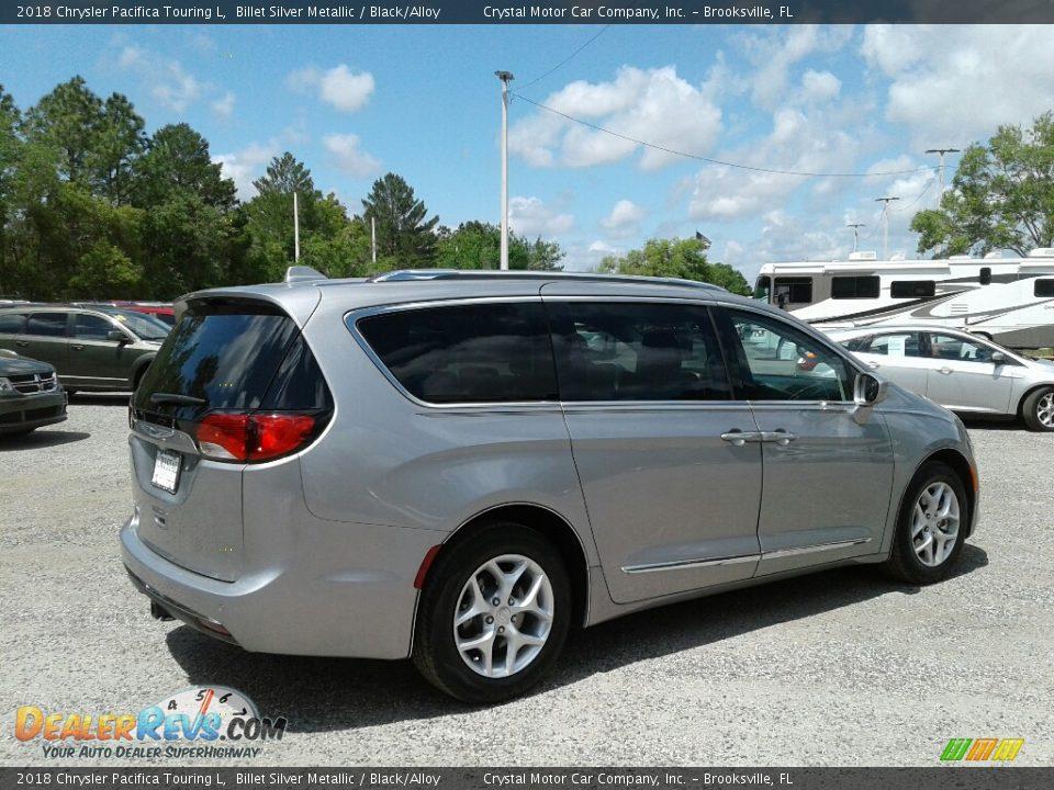 2018 Chrysler Pacifica Touring L Billet Silver Metallic / Black/Alloy Photo #5