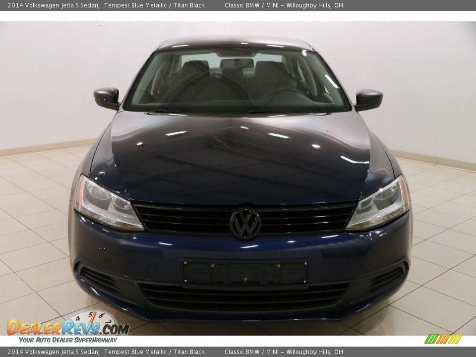 2014 Volkswagen Jetta S Sedan Tempest Blue Metallic / Titan Black Photo #2