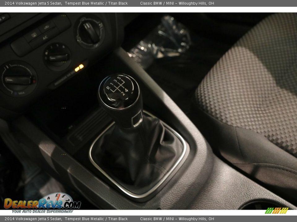 2014 Volkswagen Jetta S Sedan Tempest Blue Metallic / Titan Black Photo #12