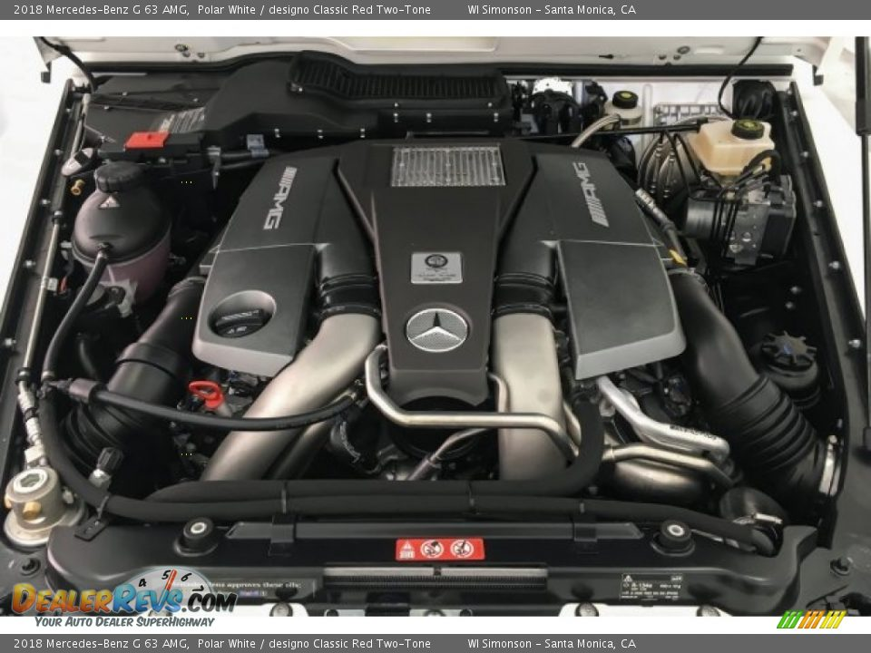 2018 Mercedes-Benz G 63 AMG 5.5 Liter AMG biturbo DOHC 32-Valve VVT V8 Engine Photo #9