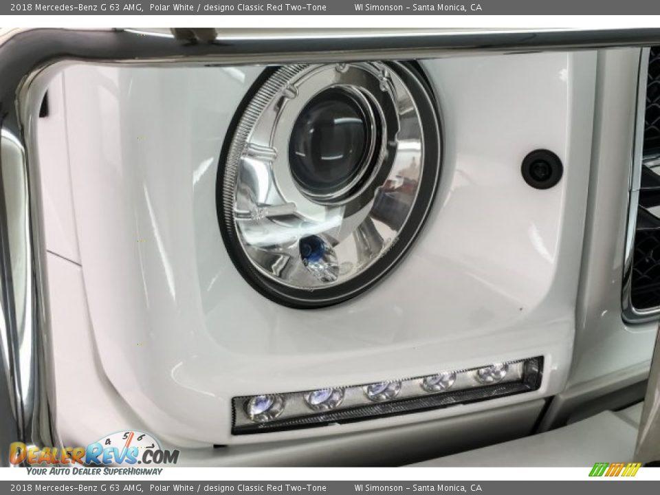 2018 Mercedes-Benz G 63 AMG Polar White / designo Classic Red Two-Tone Photo #31