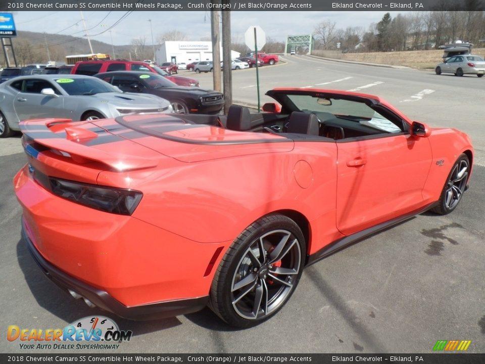 2018 Chevrolet Camaro SS Convertible Hot Wheels Package Crush (Orange) / Jet Black/Orange Accents Photo #6