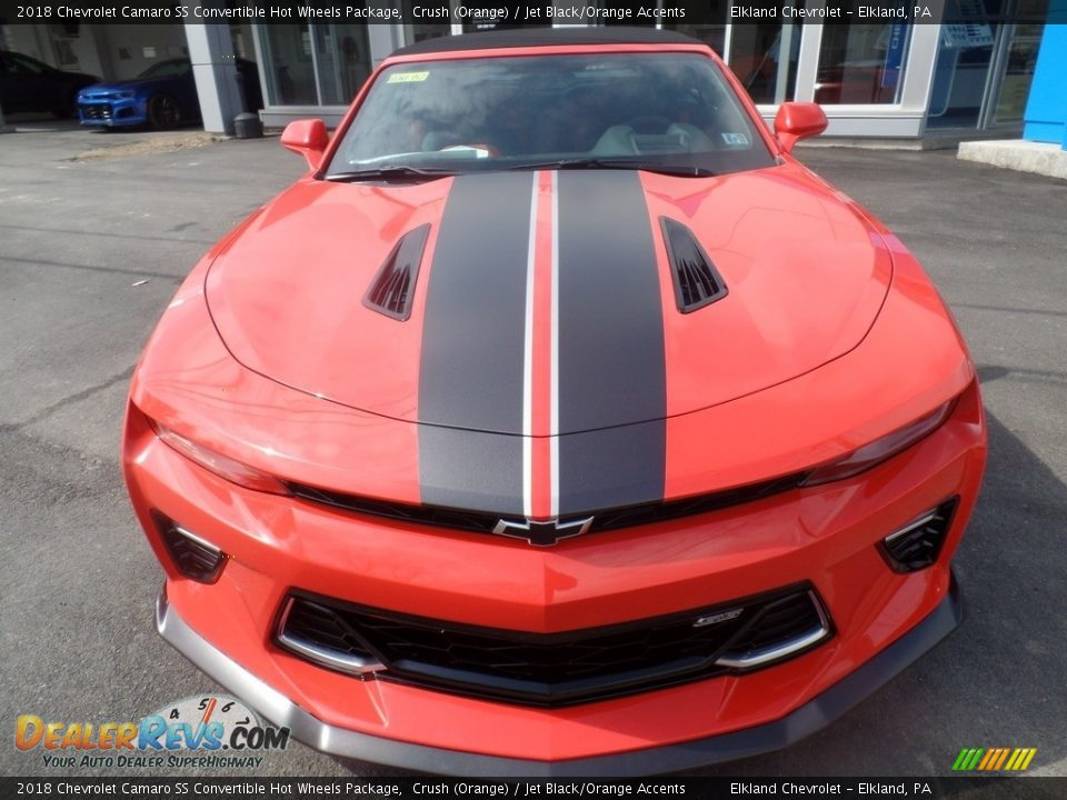 2018 Chevrolet Camaro SS Convertible Hot Wheels Package Crush (Orange) / Jet Black/Orange Accents Photo #11