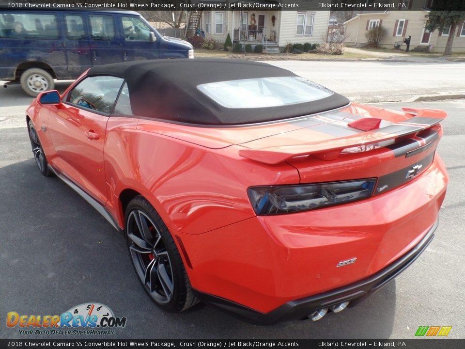 2018 Chevrolet Camaro SS Convertible Hot Wheels Package Crush (Orange) / Jet Black/Orange Accents Photo #18