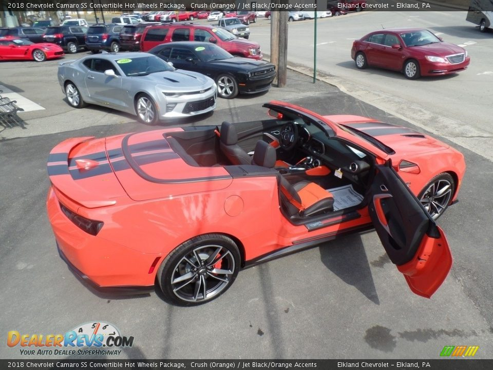 2018 Chevrolet Camaro SS Convertible Hot Wheels Package Crush (Orange) / Jet Black/Orange Accents Photo #19