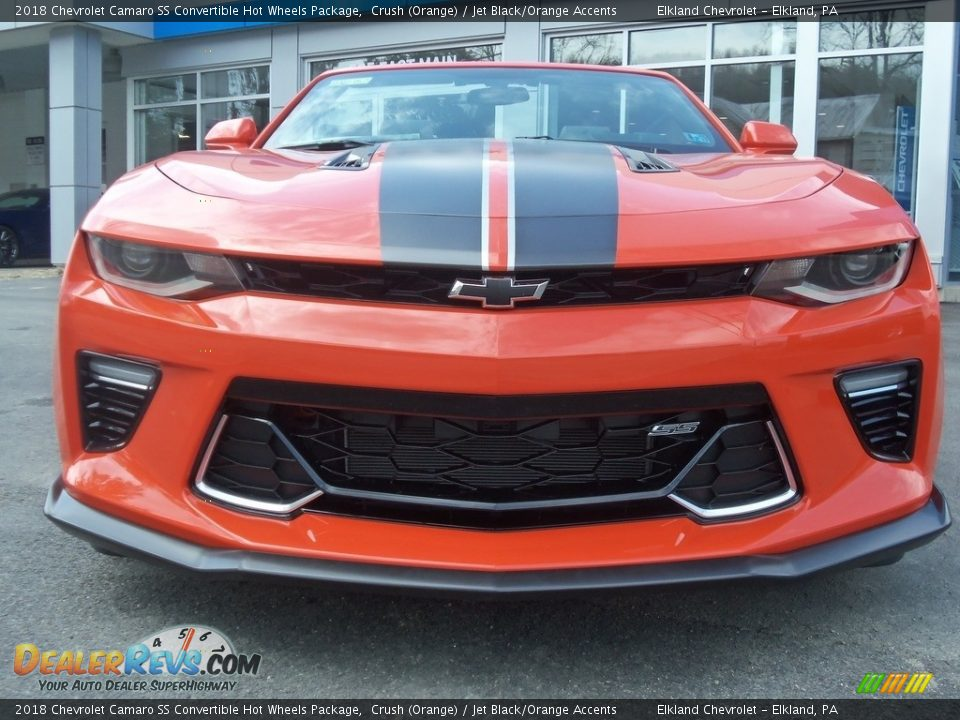 2018 Chevrolet Camaro SS Convertible Hot Wheels Package Crush (Orange) / Jet Black/Orange Accents Photo #23