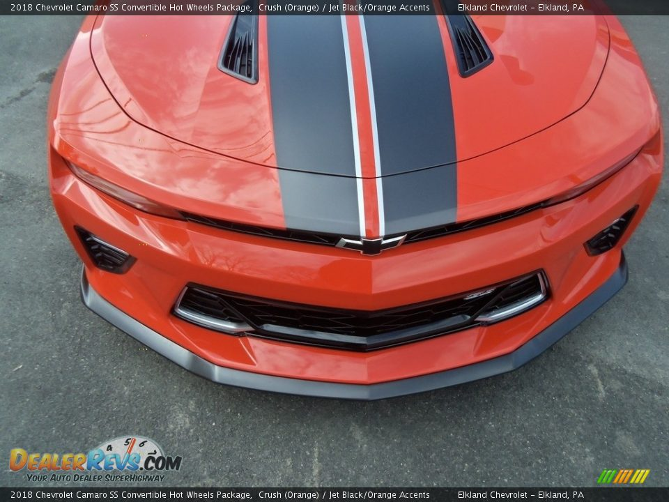 2018 Chevrolet Camaro SS Convertible Hot Wheels Package Crush (Orange) / Jet Black/Orange Accents Photo #25