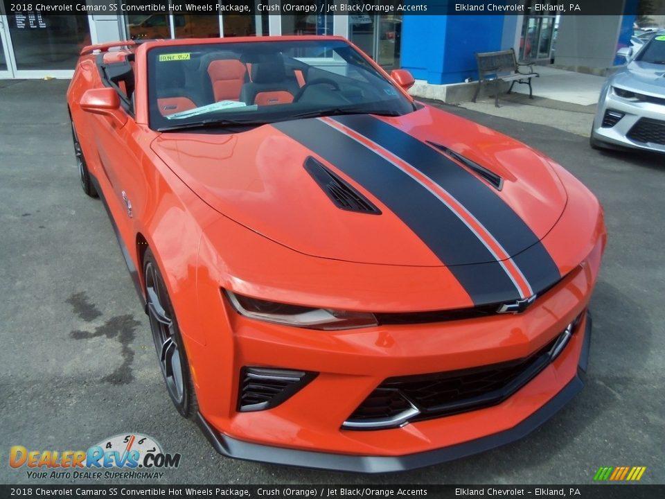 Crush (Orange) 2018 Chevrolet Camaro SS Convertible Hot Wheels Package Photo #26