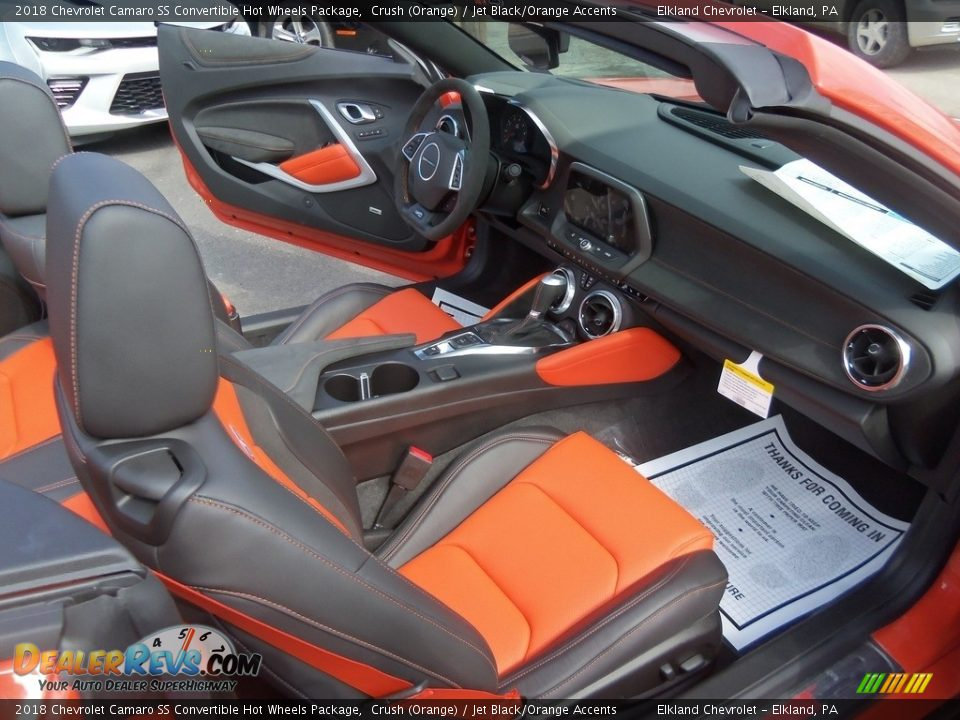 Front Seat of 2018 Chevrolet Camaro SS Convertible Hot Wheels Package Photo #35