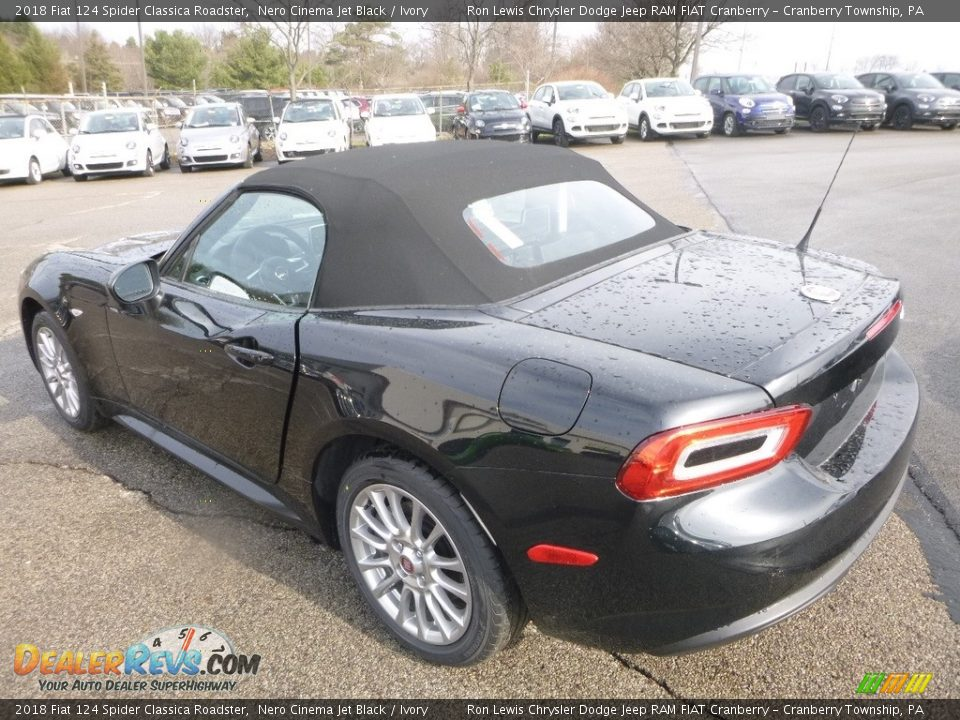 2018 Fiat 124 Spider Classica Roadster Nero Cinema Jet Black / Ivory Photo #3