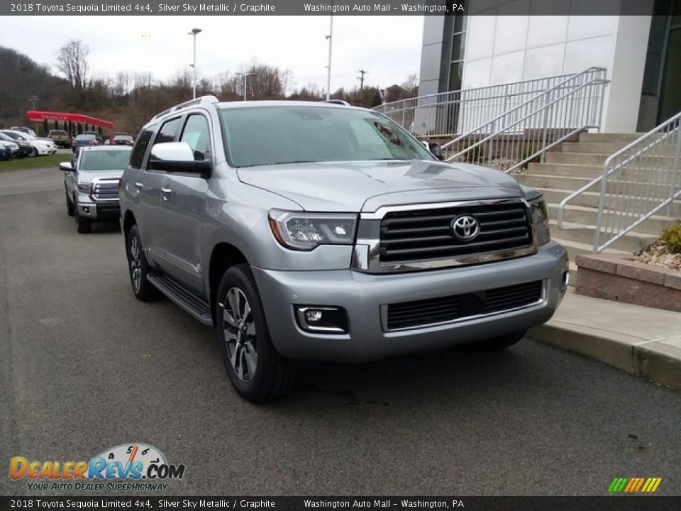 2018 Toyota Sequoia Limited 4x4 Silver Sky Metallic / Graphite Photo #1