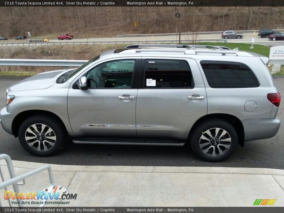 Silver Sky Metallic 2018 Toyota Sequoia Limited 4x4 Photo #5