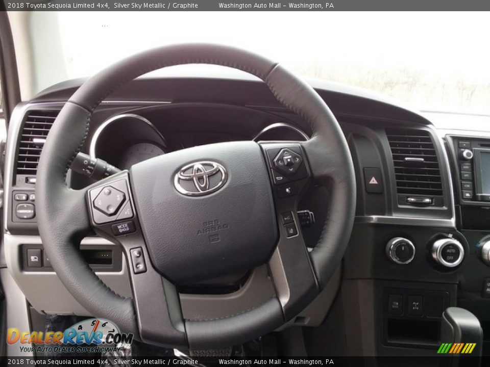 2018 Toyota Sequoia Limited 4x4 Steering Wheel Photo #10