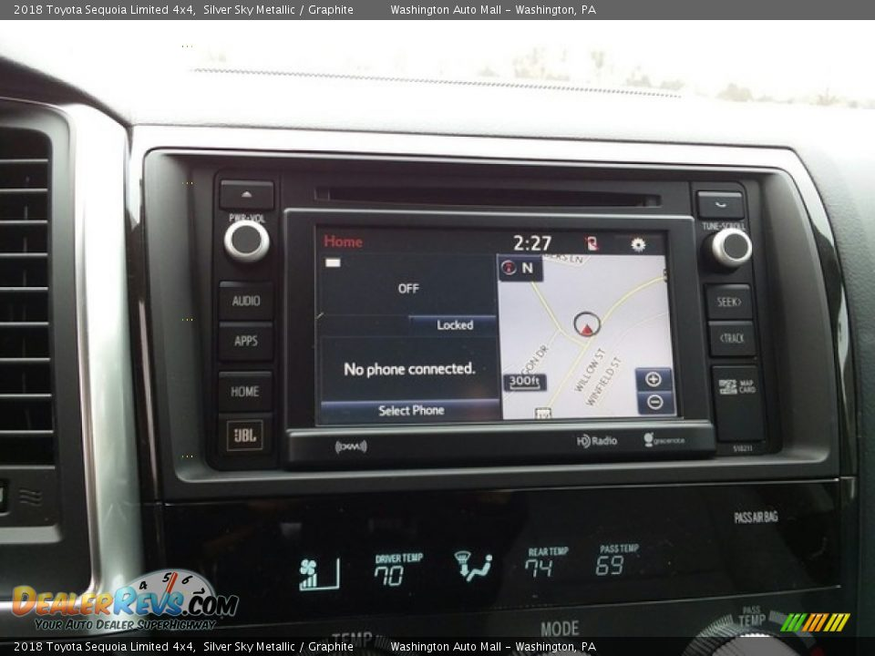 Navigation of 2018 Toyota Sequoia Limited 4x4 Photo #12