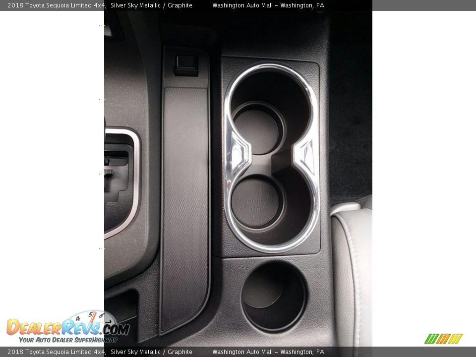 2018 Toyota Sequoia Limited 4x4 Silver Sky Metallic / Graphite Photo #21