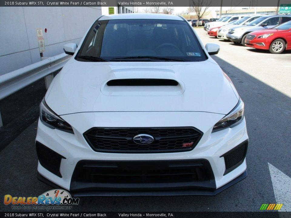 Crystal White Pearl 2018 Subaru WRX STI Photo #8