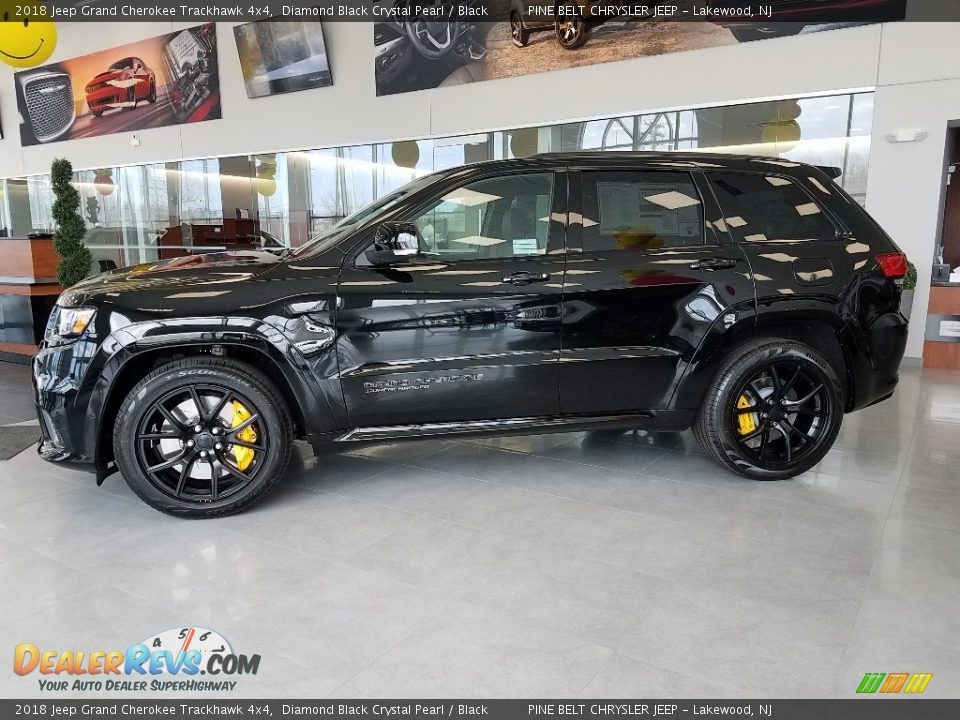 Diamond Black Crystal Pearl 2018 Jeep Grand Cherokee Trackhawk 4x4 Photo #3