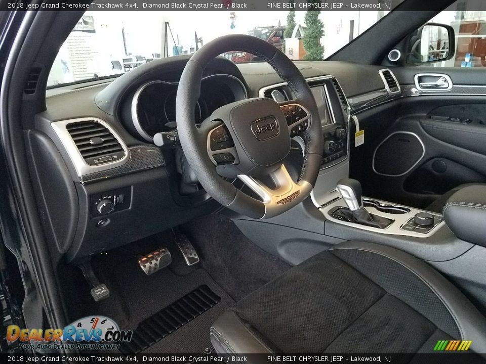 Black Interior - 2018 Jeep Grand Cherokee Trackhawk 4x4 Photo #8