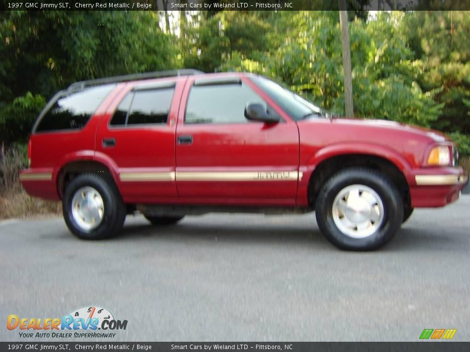 1997 gmc jimmy slt cherry red metallic beige photo 8. Black Bedroom Furniture Sets. Home Design Ideas