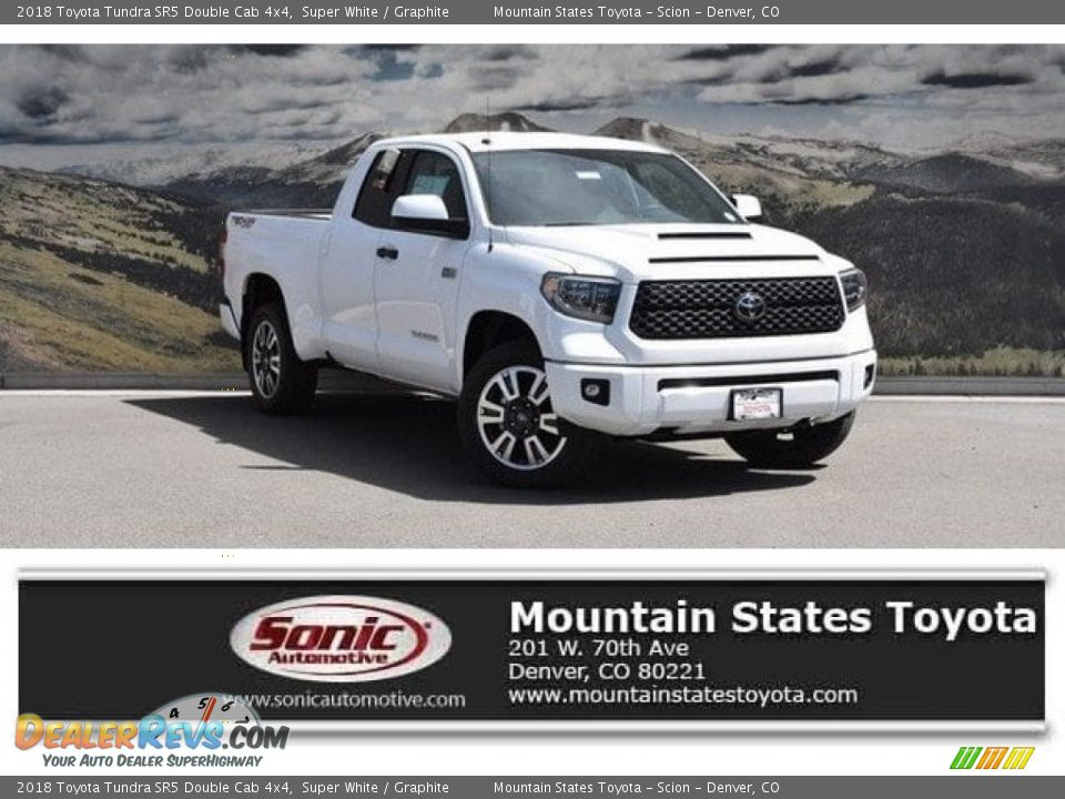 2018 Toyota Tundra SR5 Double Cab 4x4 Super White / Graphite Photo #1