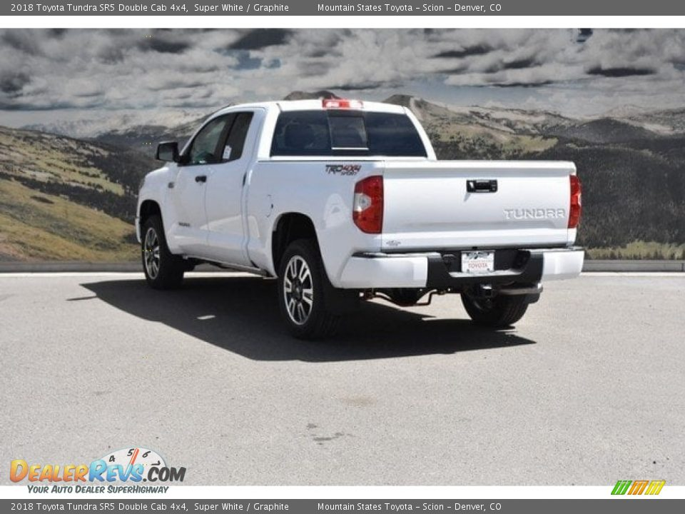 2018 Toyota Tundra SR5 Double Cab 4x4 Super White / Graphite Photo #3