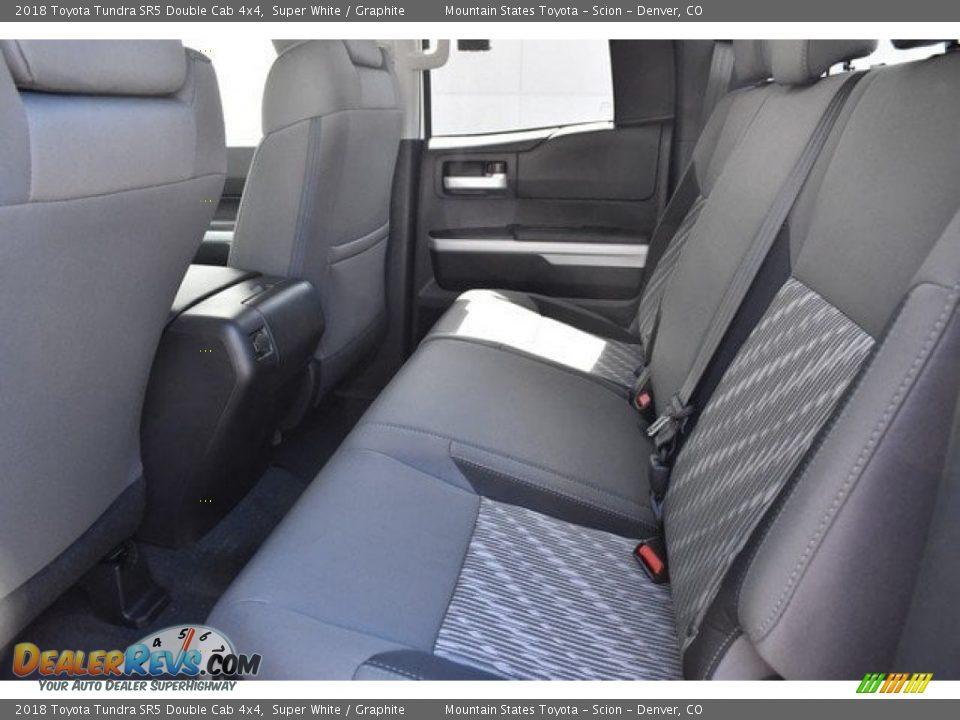 2018 Toyota Tundra SR5 Double Cab 4x4 Super White / Graphite Photo #14