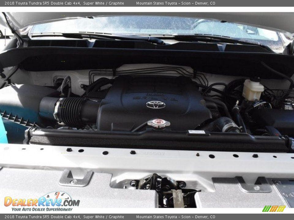 2018 Toyota Tundra SR5 Double Cab 4x4 Super White / Graphite Photo #31