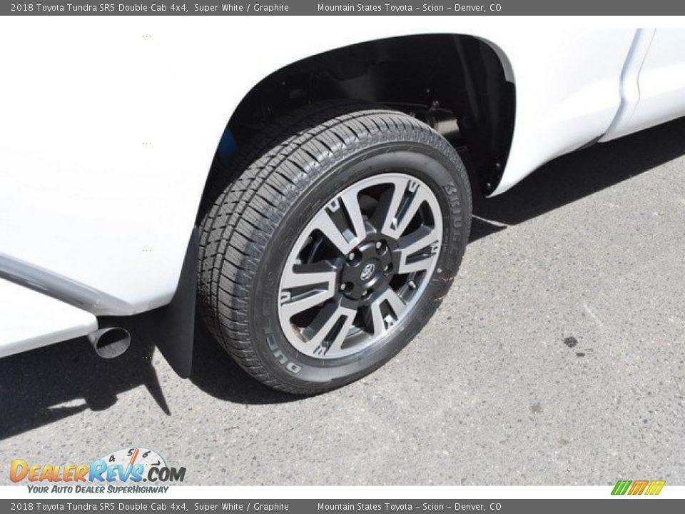 2018 Toyota Tundra SR5 Double Cab 4x4 Super White / Graphite Photo #34